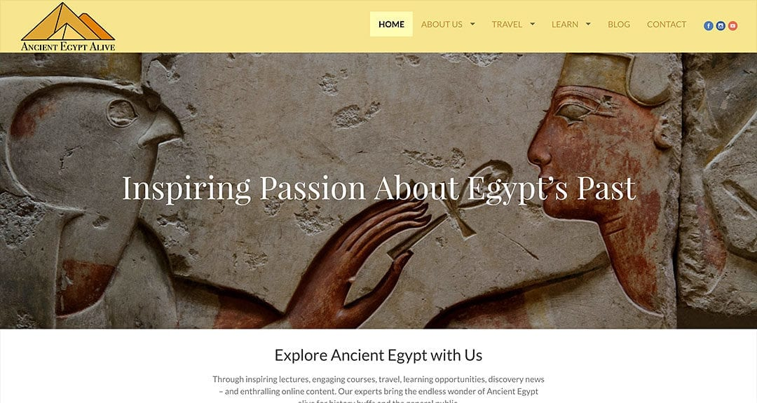 New client: Ancient Egypt Alive