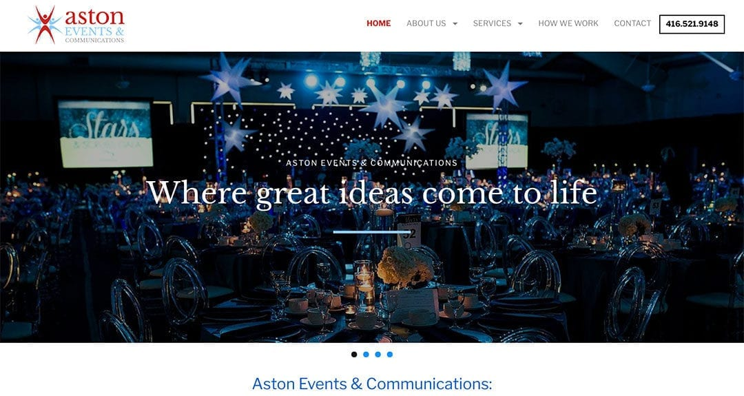 Aston Events and Communications gets a new website