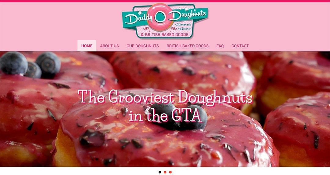 Daddy O Doughnuts in Mississauga gets a website by Your Web Department