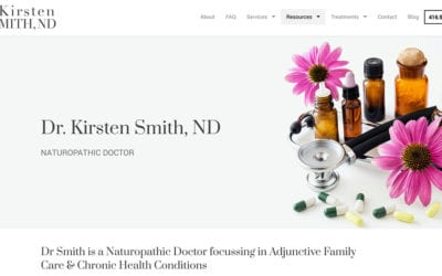 Website redesign: Dr Kirsten Smith, ND