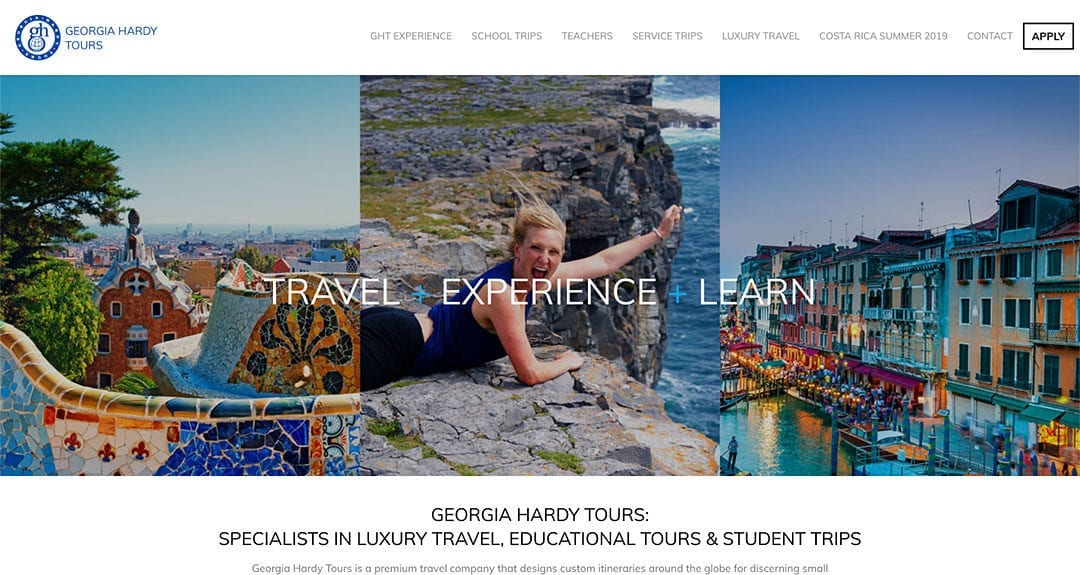 Website redesign: Georgia Hardy Tours
