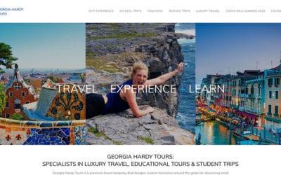Website redesign: Georgia Hardy Tours