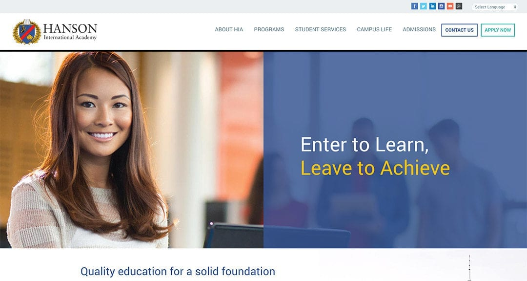 Hanson International Academy launches a new website
