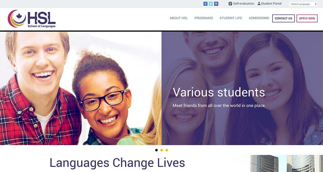 Our latest website: Hanson School of Languages