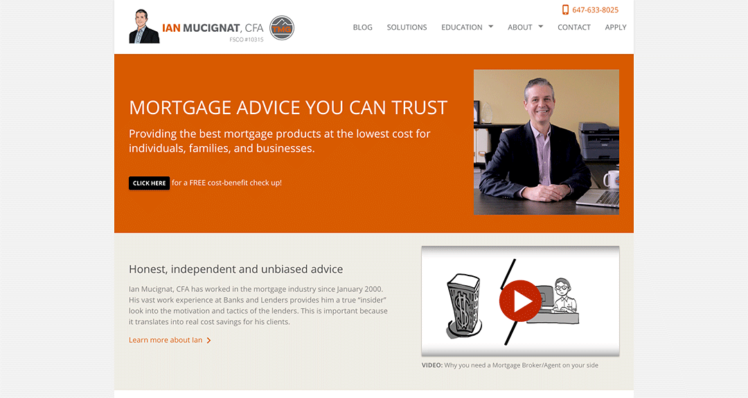 Website redesign: Ian Mucignat