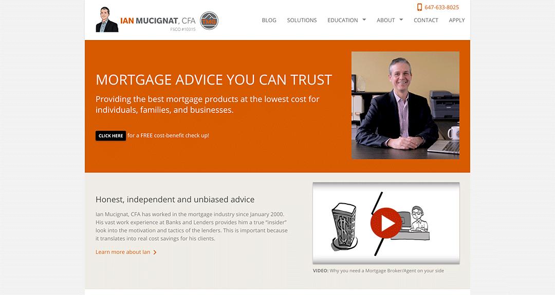 Website redesign: Ian Mucignat