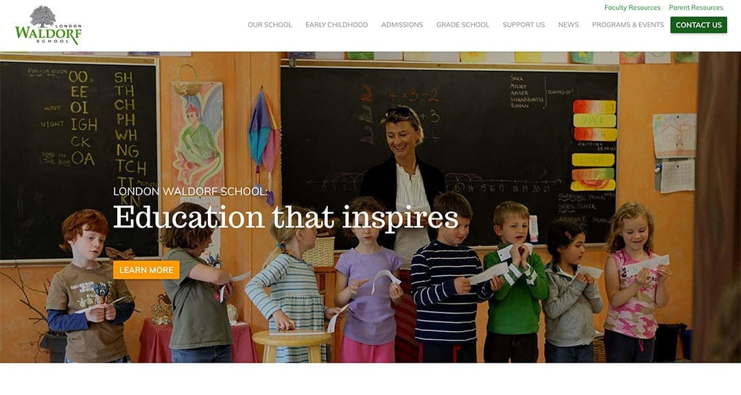 Website redesign: London Waldorf School