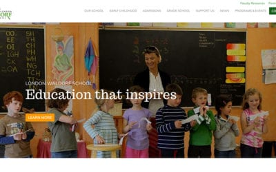 Website redesign: London Waldorf School