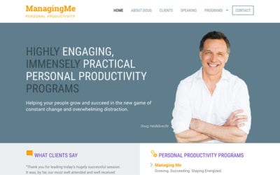 New client, new website: ManagingMe