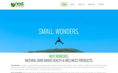 Next Remedies: redesigned website, with Shopify integration