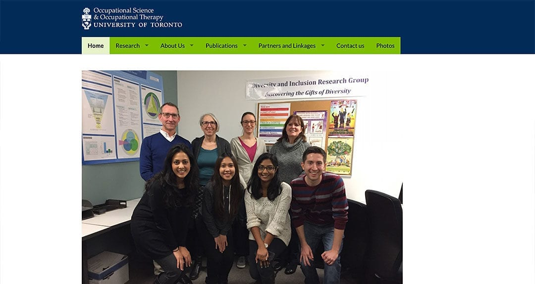 New client: Department of Occupational Science & Occupational Therapy, UofT