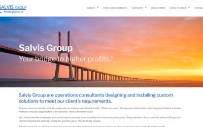 Salvis Group gets a website designed and built by Your Web Department