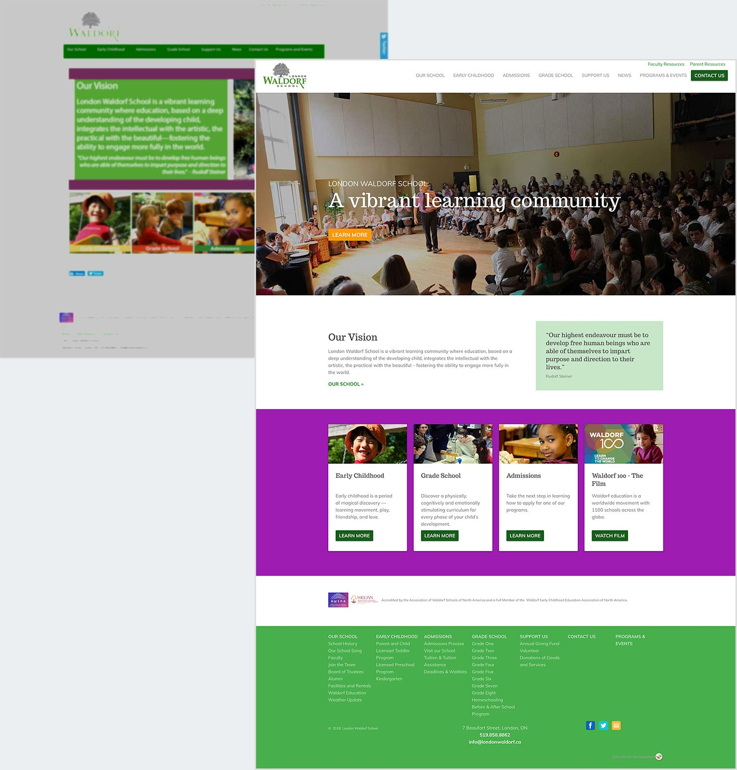 Website Transformation: Lodon Waldorf School