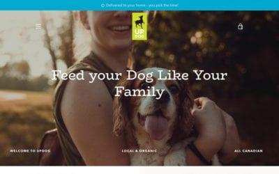 UPDOG: our latest e-commerce website