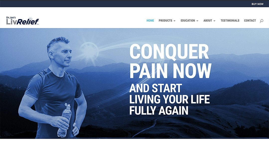 New client: LivRelief, revolutionary pain relief science