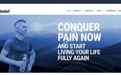 New client: LivRelief, revolutionary pain relief science