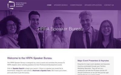 HRPA Speaker Bureau Searchable Database Tool