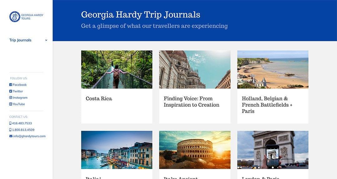 Georgia Hardy Trips Journal