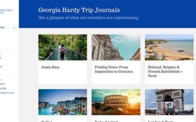 Georgia Hardy Trips Journal: multiple blogs with a slick interface