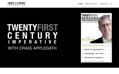 Website redesign: Twenty First Century Imperative
