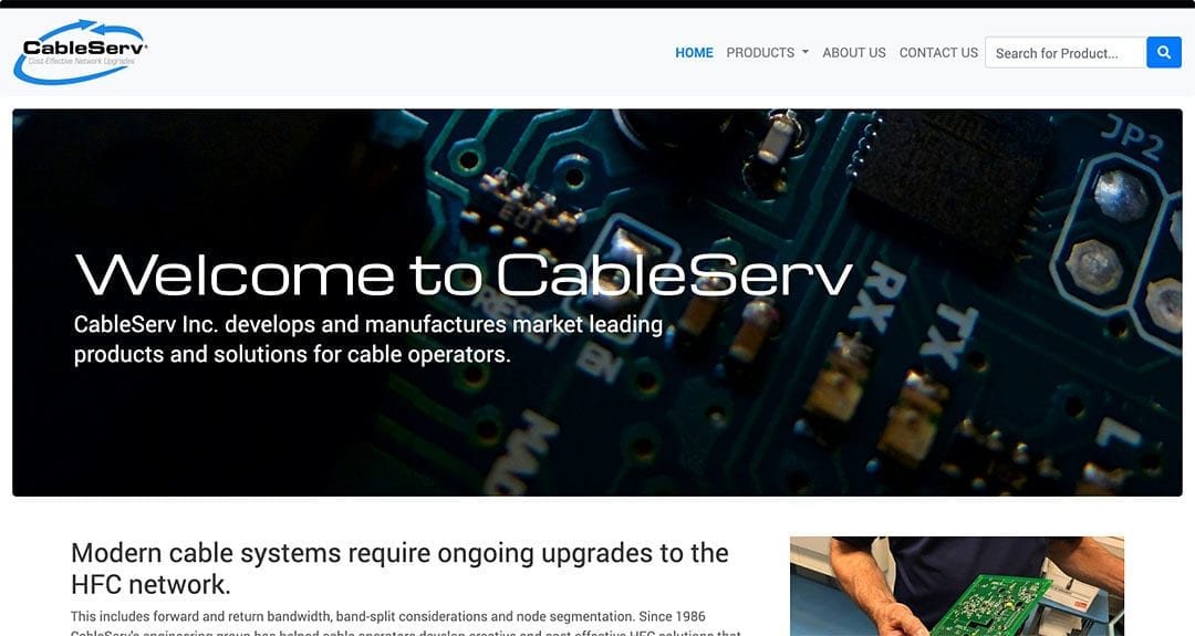 CableServ: large database and on the fly PDF generation