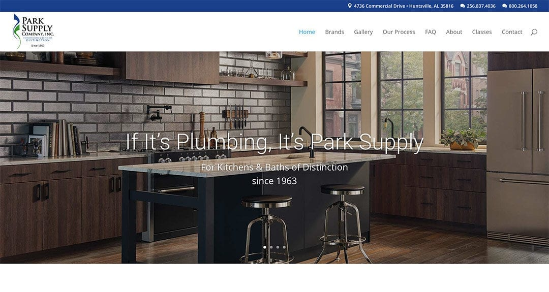 Park Supply Company in Huntsville, AL launches new website