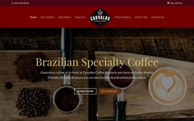 Website redesign: Carvalho Coffee
