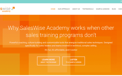 SalesWise Academy gets a new website by YWD