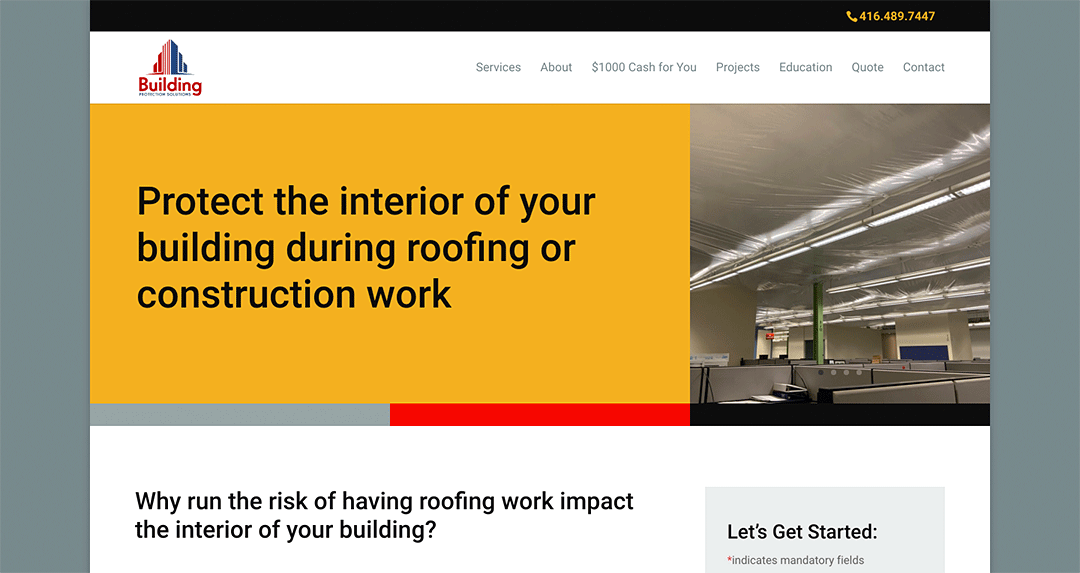 New website: Building Protection Solutions