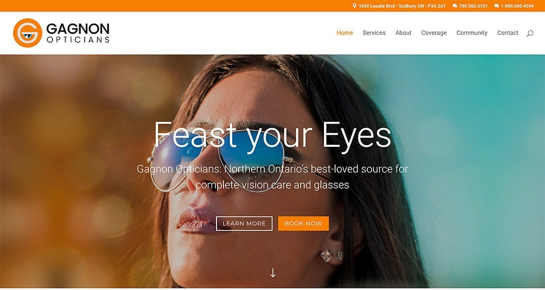 Gagnon Opticians gets a website by Your Web Department