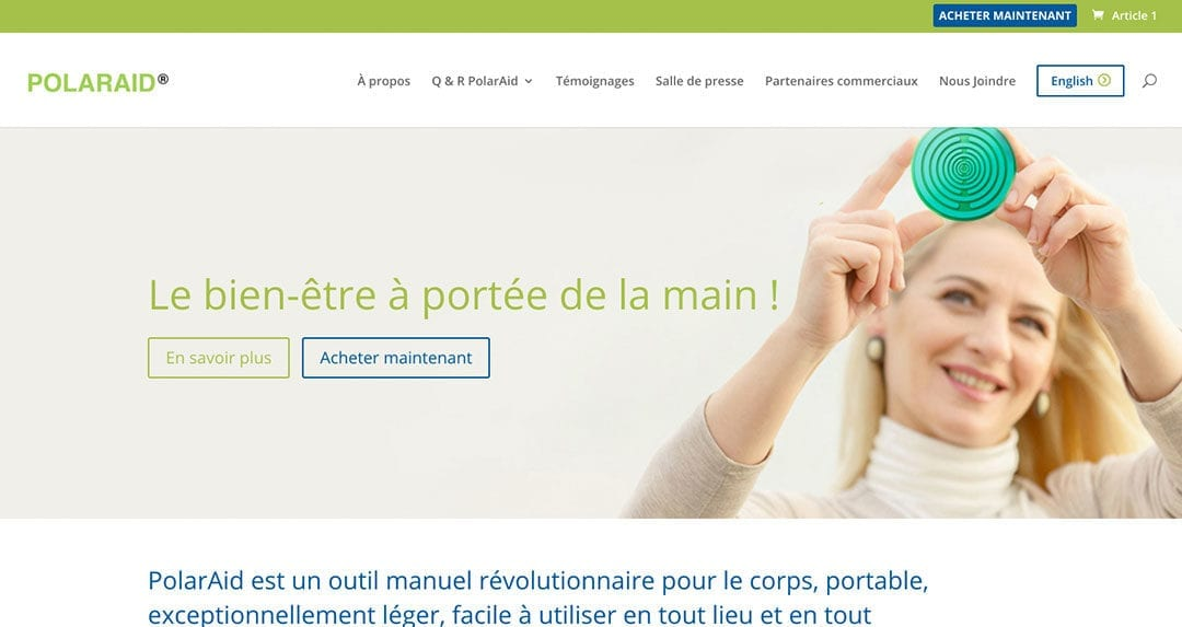 PolarAid Health: a new bilingual, dual currency e-commerce website