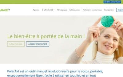 PolarAid Health: a new bilingual, dual currency e-commerce website