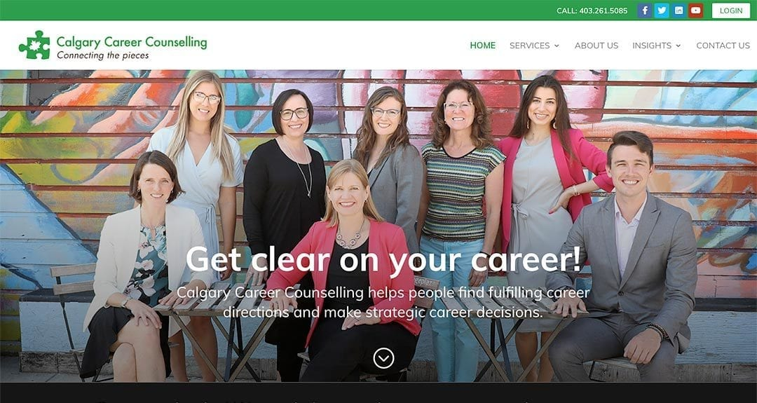 Calgary Career Counselling launches website by YWD