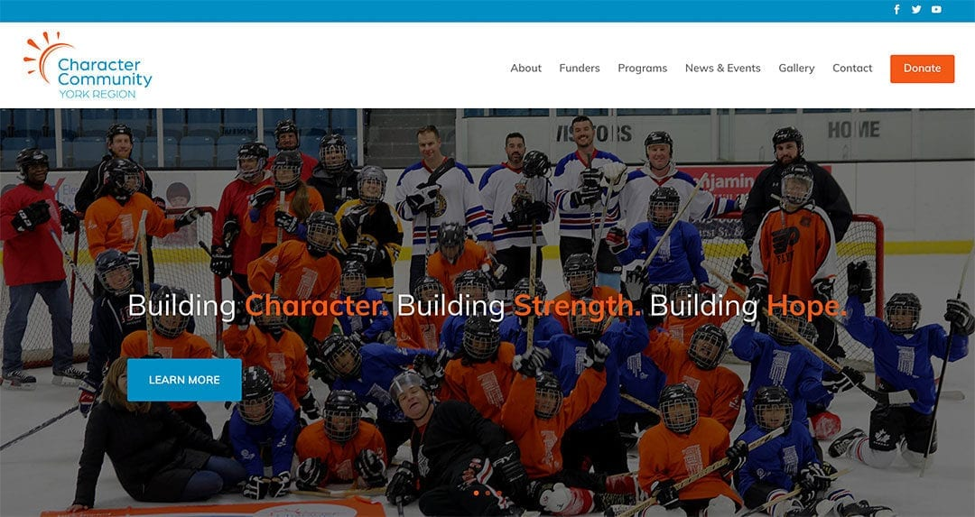 Our latest website redesign: Character Community York Region