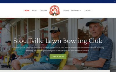New website by YWD: Stouffville Lawn Bowling Club