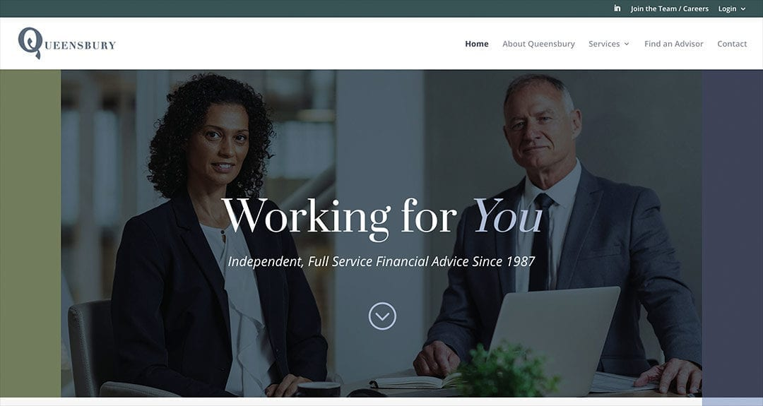 Queensbury Group gets their website redesigned by Your Web Department