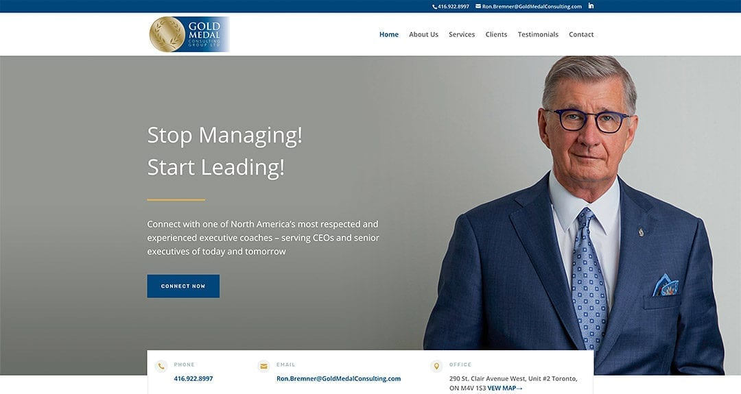 Ron Bremner's Gold Medal Consulting Group launches their website