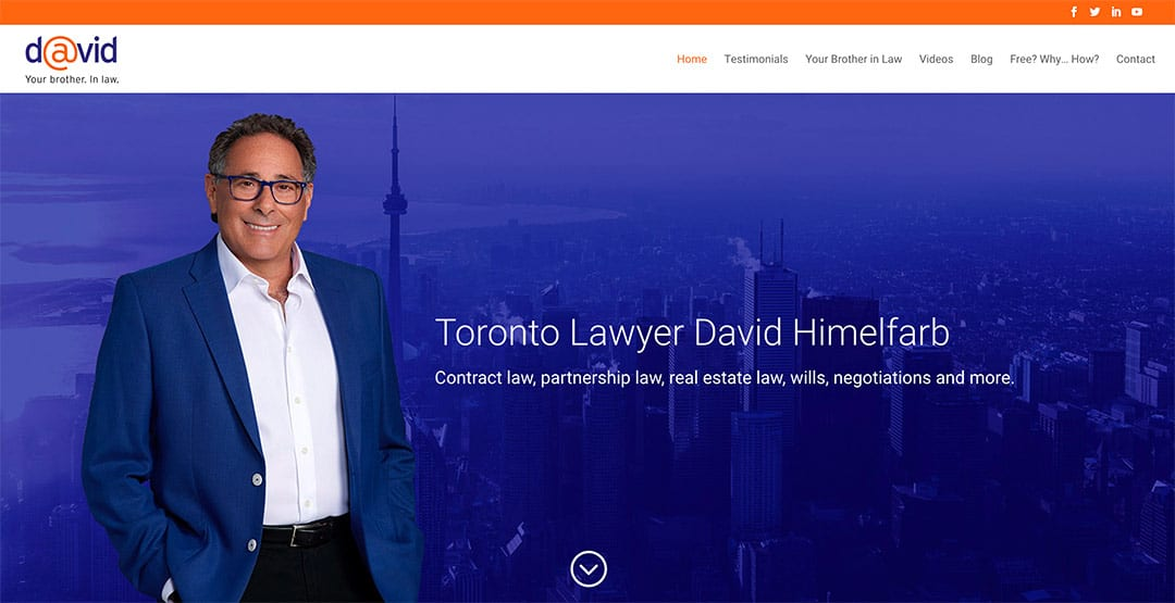 Toronto lawyer David Himelfarb launches new website by Your Web Department