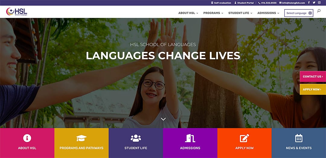 HSL School of Languages launches new website