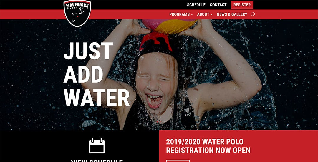 New website launched: Mavericks Water Polo