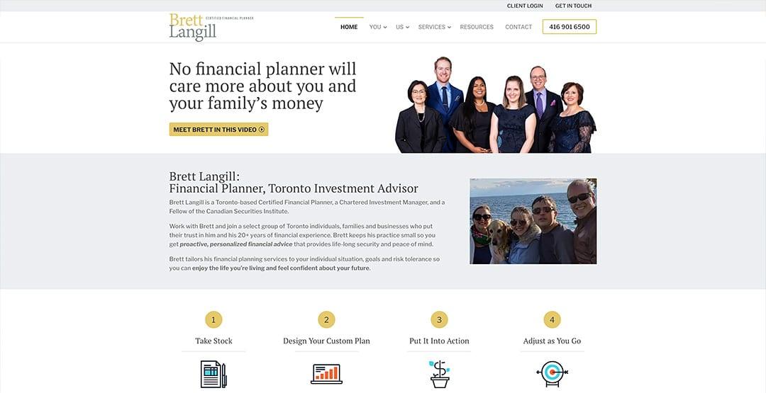 Latest quick conversion to WordPress: Brett Langill, Financial Advisor