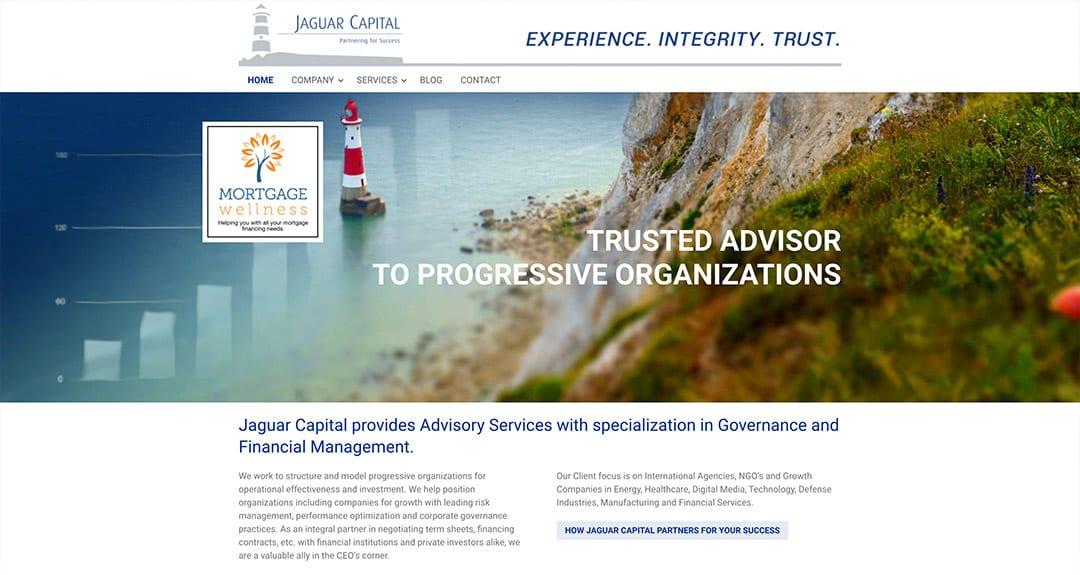 Latest quick conversion to WordPress: Jaguar Capital