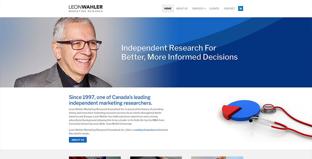 Our latest conversion to WordPress: Leon Wahler Marketing Research