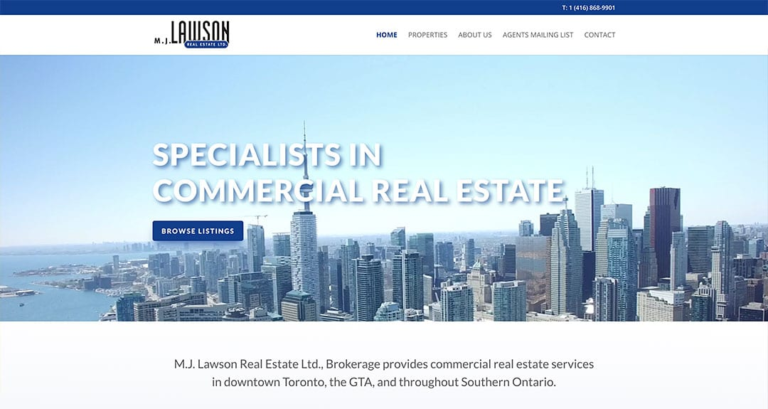 M.J. Lawson Real Estate launches a new website by Your Web Department
