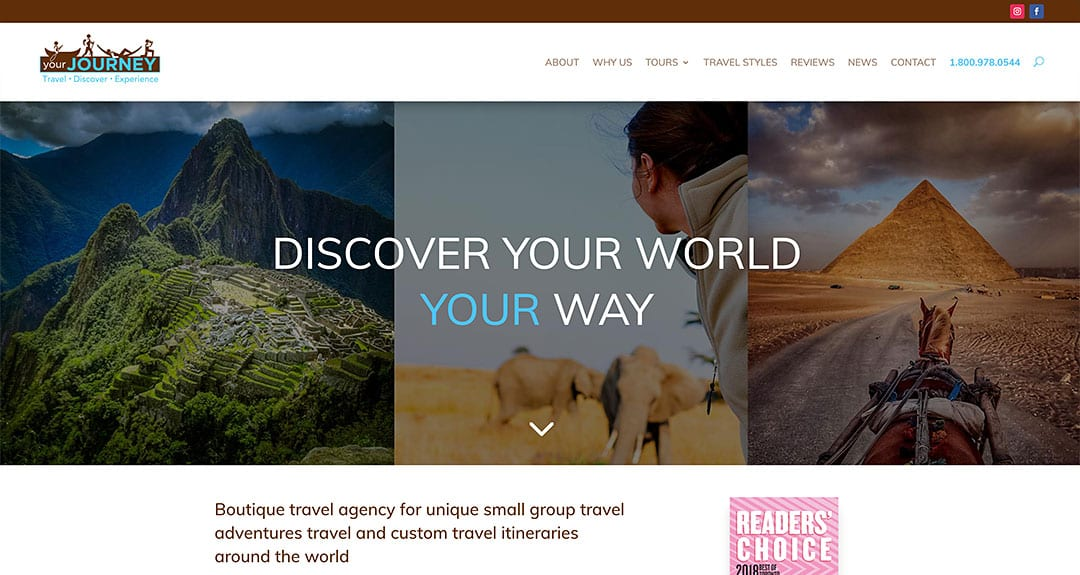 Our latest website redesign and conversion to WordPress: YourJourney.com
