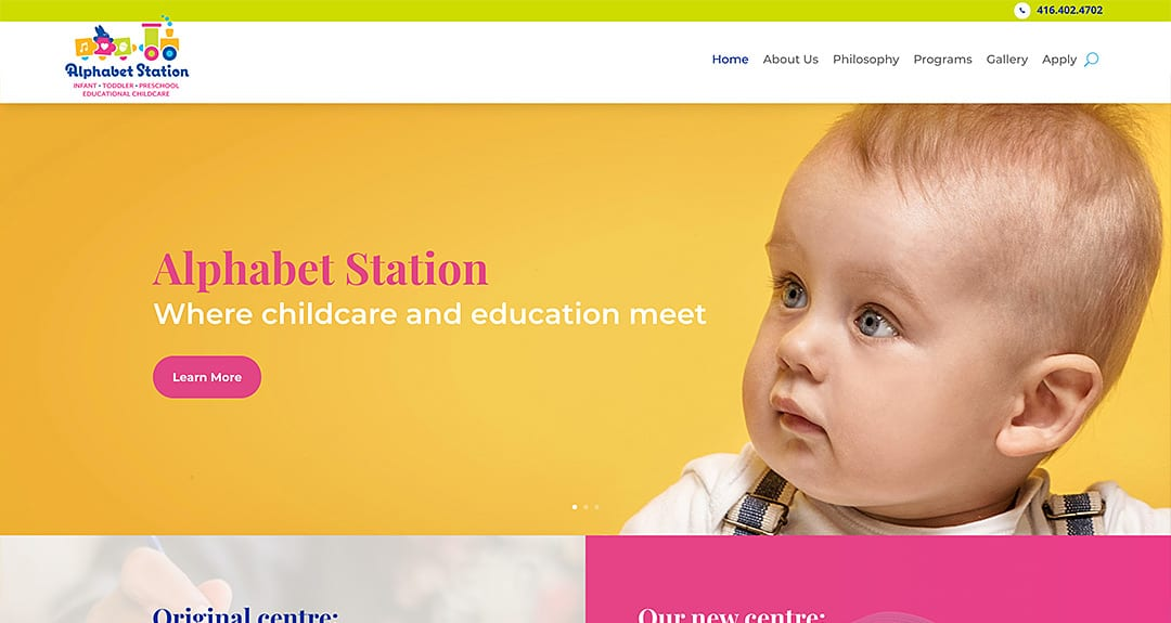 Alphabet Station Childcare launches a website by Your Web Department