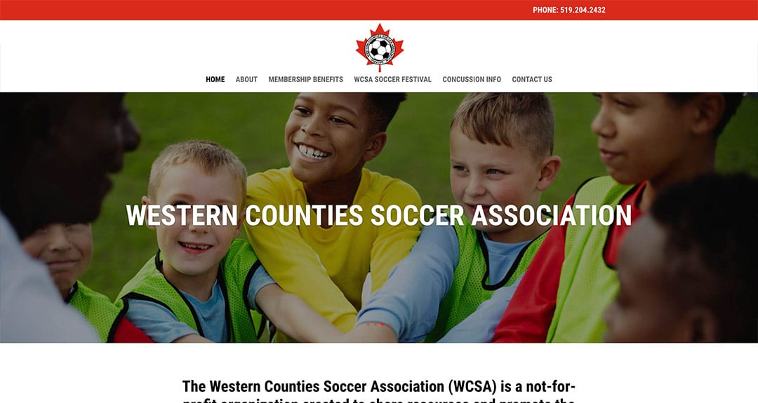 New website redesign and conversion to WordPress: Western Counties Soccer Association