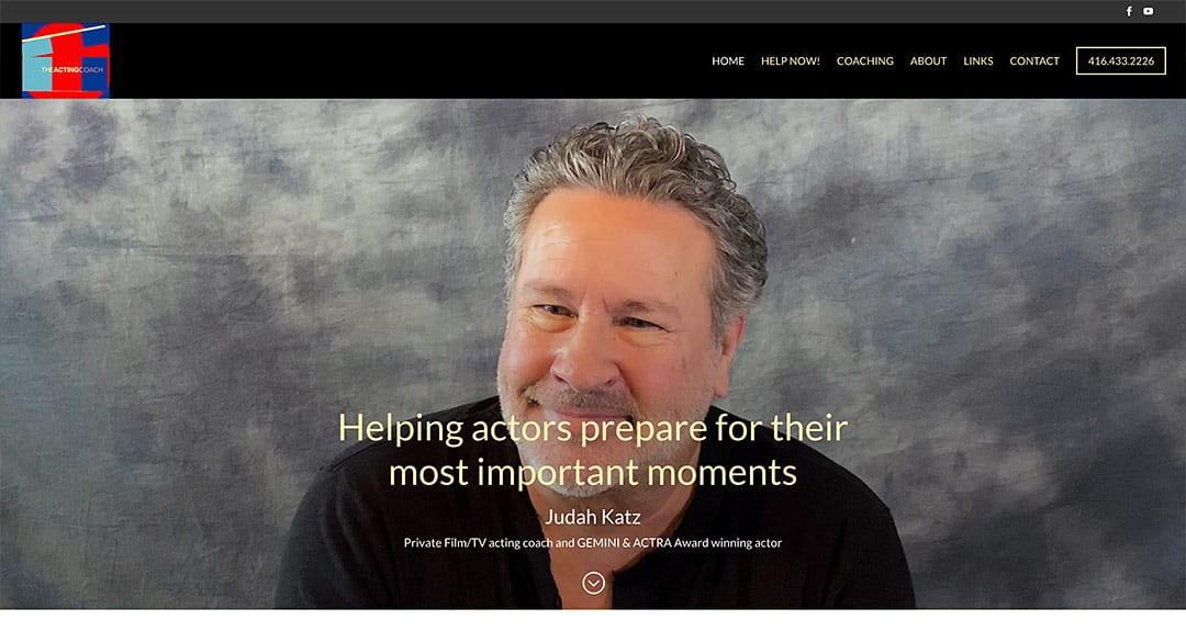 New website conversion to WordPress: The Acting Coach