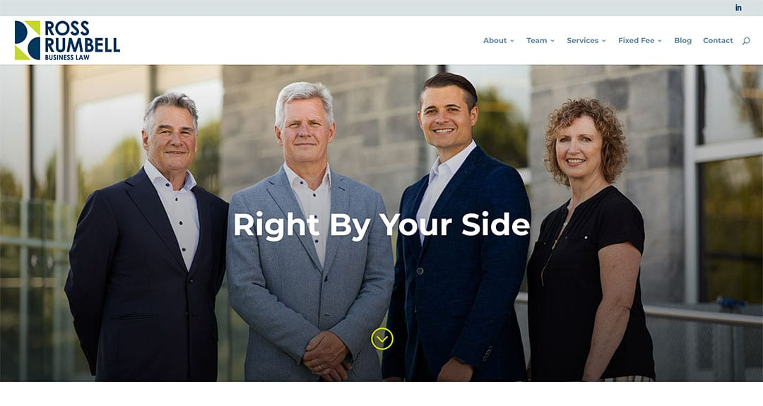 Toronto business law firm Ross Rumbell launches a website by YWD