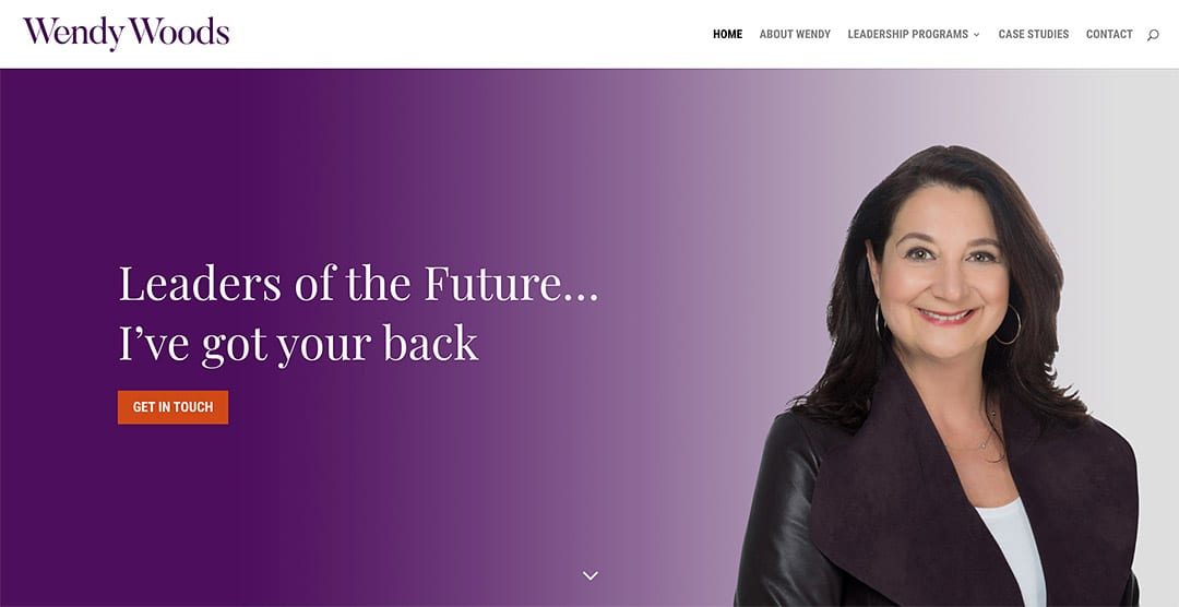 New website for an executive coach: Wendy Woods Coaching